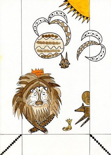 Le lion et le renard cordonnier dans Contes le-lion-et-le-renard-cordonnier