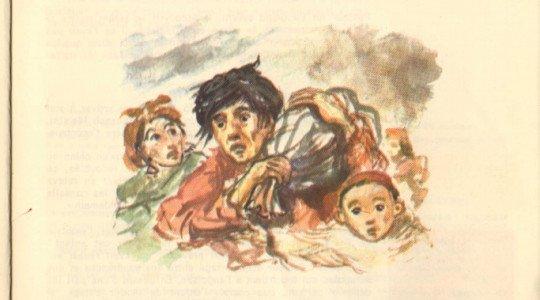 L'évacuation d'un village -D'après Mouloud Mammeri – L'opium et le bâton (Ed.plon)