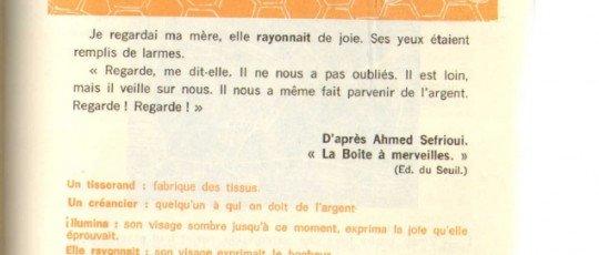 De bonnes nouvelles D'après Ahmed Sefrioui » La boîte à merveilles»(Ed. du seuil)
