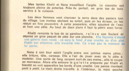 Poterie kabyle de Mouloud Feraoun » Le fils du pauvre ( Ed. du seuil)